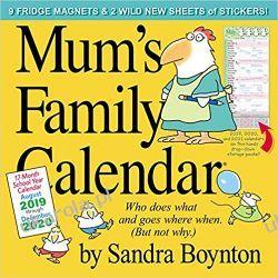 Mum's Family Calendar Wall Calendar 2020 Fortyfikacje
