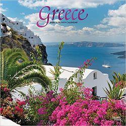 Greece 2020 2020 Square Wall Calendar Grecja Lotnictwo