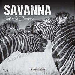 Savanna 2020 Square Wall Calendar Afryka Kalendarze ścienne
