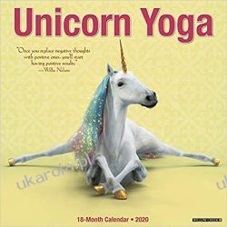 Unicorn Yoga 2020 Wall Calendar jednorożce