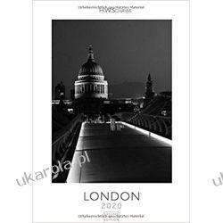 Kalendarz Londyn London 2020 Black & White Calendar Historyczne