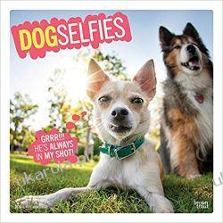 Kalendarz Psy Dog Selfies 2020 Square Wall Calendar