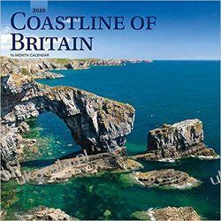 Kalendarz Linia Brzegowa Wielkiej Brytanii Coastline of Britain 2020 Square Wall Calendar
