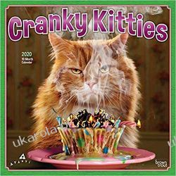 Kalendarz Koty Cranky Kitties 2020 Square Wall Calendar Kalendarze ścienne