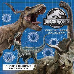 Kalendarz Jurassic World 2020 Calendar  Książki i Komiksy
