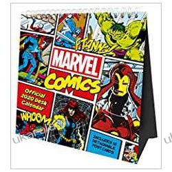 Kalendarz Marvel Comics Desk Easel Official 2020 Calendar Month to View Desk Calendar with removable Postcards Książki i Komiksy