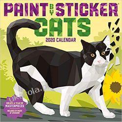 Kalendarz Koty Paint By Sticker Cats Wall Calendar 2020 Książki i Komiksy