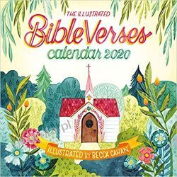 Kalendarz The Illustrated Bible Verses Wall Calendar 2020 Książki i Komiksy