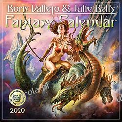 Kalendarz Boris Vallejo & Julie Bell's Fantasy Wall Calendar 2020 Książki i Komiksy