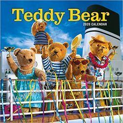Kalendarz Misie Teddy Bear Calendar Wall Calendar 2020 Książki i Komiksy