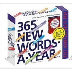 Kalendarz 365 New Words-A-Year Page-A-Day Calendar 2020 Książki i Komiksy
