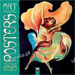 Kalendarz Art Nouveau Posters Wall Calendar 2020 Książki i Komiksy