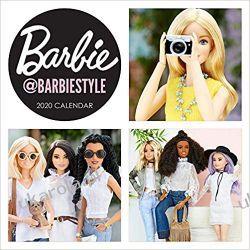Kalendarz Barbie barbiestyle 2020 Wall Calendar Książki i Komiksy