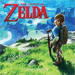 Kalendarz Legend of Zelda 2020 Wall Calendar Książki i Komiksy