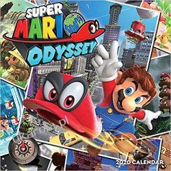 Kalendarz Super Mario Odyssey 2020 Wall Calendar Książki i Komiksy