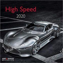 Kalendarz High Speed 2020 Calendar Samochody  Kalendarze ścienne