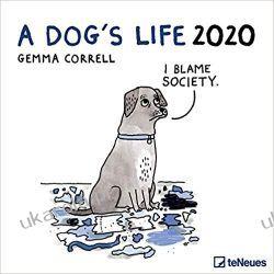 Kalendarz A Dog's Life 2020 30 x 30 Grid Calendar Kalendarze ścienne