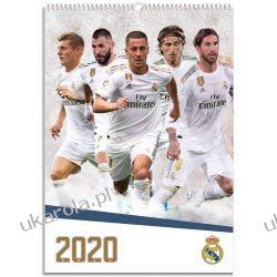 Kalendarz Real Madrid 2020 Official A3 Wall Calendar Książki i Komiksy