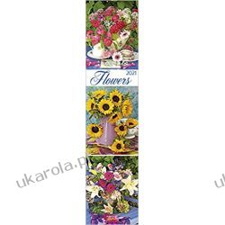 Kalendarz Kwiaty Planer Flowers long planner 2021 Calendar