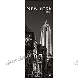 Kalendarz Nowy Jork New York Vertical 2021 Calendar Historyczne