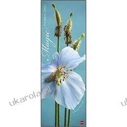 Kalendarz Kwiaty Magic Flowers Vertical 2021 Calendar Książki i Komiksy