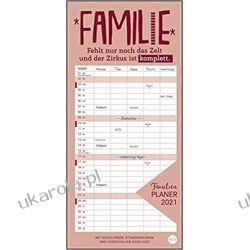 Kalendarz Organizer Rodzinny Typo family planner 2021 Calendar Książki i Komiksy