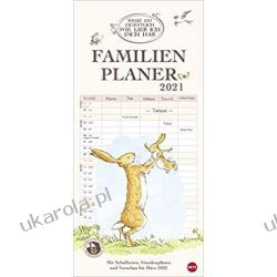 Kalendarz Organizer Rodzinny Do you know how much I love you? Family Planner 2021 Calendar Książki i Komiksy