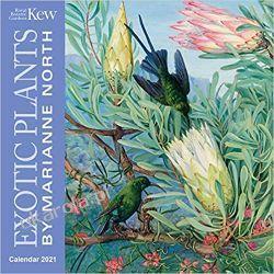 Kew Gardens - Exotic Plants by Marianne North Mini Wall calendar 2021