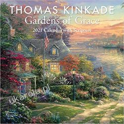 Thomas Kinkade Gardens of Grace with Scripture 2021 Square Wall Calendar
