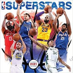 Kalendarz koszykarski NBA Superstars 2021 Calendar  Książki i Komiksy