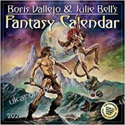 2021 Boris Vallejo & Julie Bells Fantasy Wall Calendar Książki i Komiksy