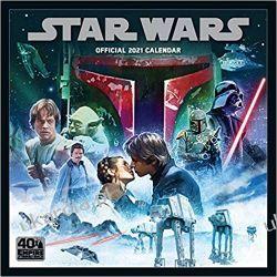Official Star Wars Classic 2021 Calendar gwiezdne wojny Książki i Komiksy