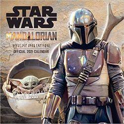 Official Star Wars The Mandalorian 2021 Calendar gwiezdne wojny Książki i Komiksy