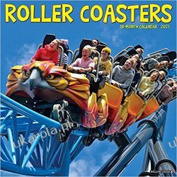 Kalendarz Roller Coasters 2021 Calendar Książki i Komiksy
