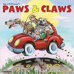 Kalendarz Gary Patterson's Paws & Claws 2021 Calendar Książki i Komiksy