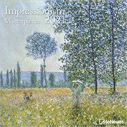 Impressionism 2021 Square Wall Calendar Książki i Komiksy