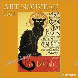 2021 Art Nouveau Square Wall Calendar  Książki i Komiksy