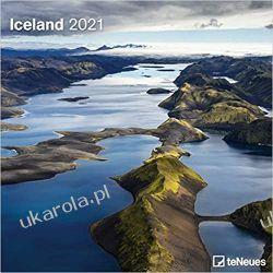 Iceland 2021 Square Wall Calendar islandia Książki i Komiksy
