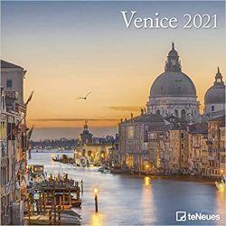 Venice 2021 Square Wall Calendar Wenecja Włochy Książki i Komiksy