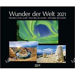 Kalendarz Cuda Świata Natury Wunder der Welt 2021 Calendar Wonders of the world Książki i Komiksy