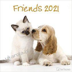 Kalendarz Zwierzęta Friends 2021 Square Wall Calendar  Książki i Komiksy