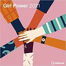 Kalendarz Girl Power 2021 Square Wall Calendar Książki i Komiksy