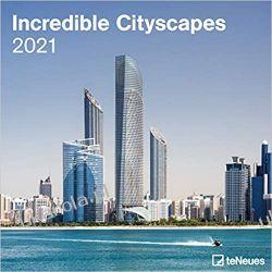 Kalendarz Incredible Cityscapes 2021 Square Wall Calendar  Książki i Komiksy