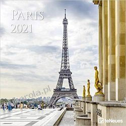 Kalendarz Paryż Paris 2021 Square Wall Calendar Książki i Komiksy