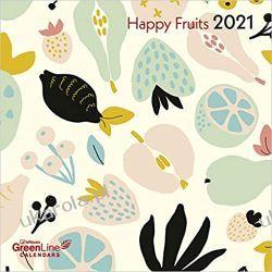 Kalendarz Owoce Happy Fruits 2021 GreenLine Grid Calendar Książki i Komiksy