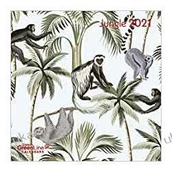 Kalendarz Dżungla Jungle 2021 GreenLine Grid Calendar Książki i Komiksy
