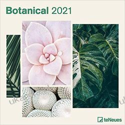 Kalendarz Botanical 2021 Square Wall Calendar Książki i Komiksy