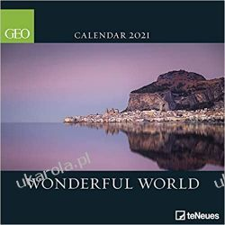 Kalendarz GEO Wonderful World 2021 Square Wall Calendar Książki i Komiksy