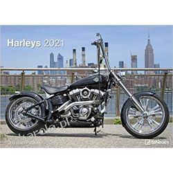 Kalendarz Harleye Harleys 2021 Wall Calendar Książki i Komiksy