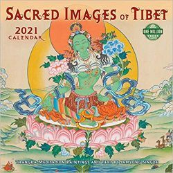 Sacred Images of Tibet 2021 Calendar tybet Książki i Komiksy